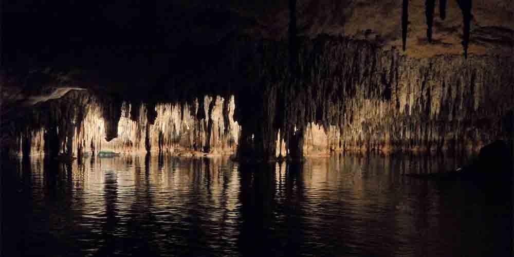 Las cuevas del Drach en Mallorca.