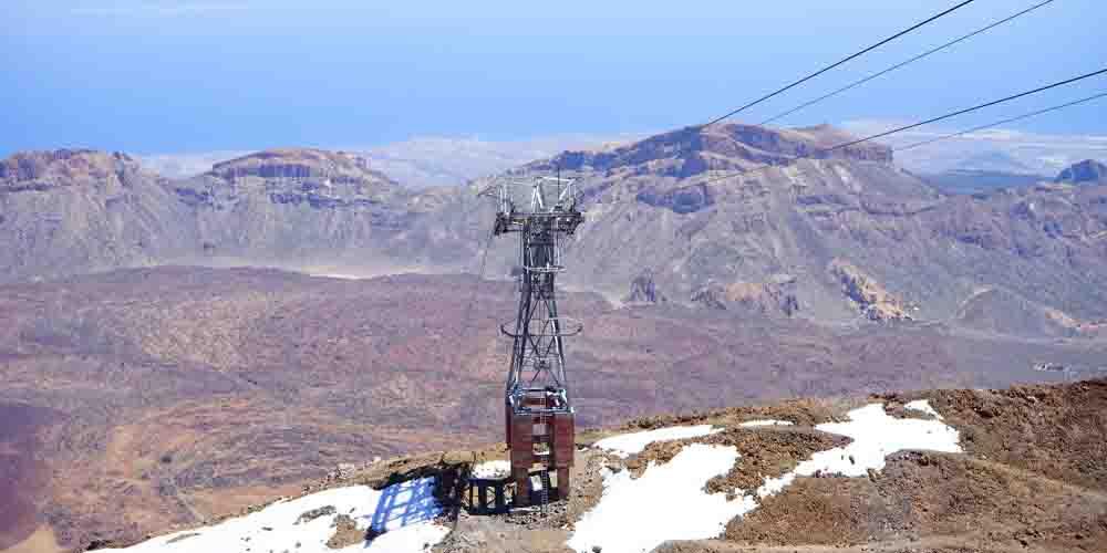 Teleférico para subir al Teide.
