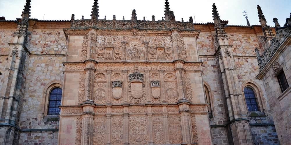Ruta del segundo días que pasa por la Universidad de Salamanca