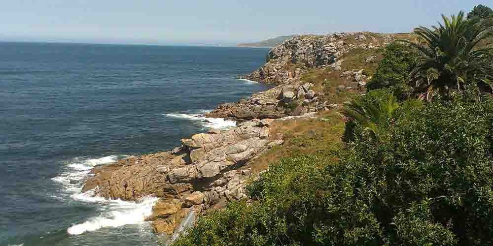 El Finisterre en la costa de Galicia.