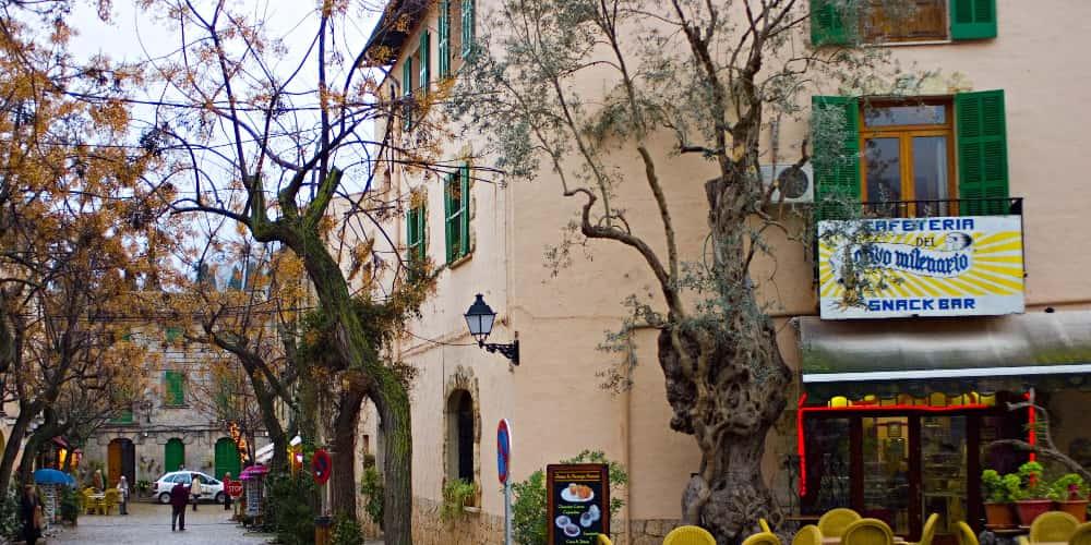 Terraza de un restaurante de Mallorca