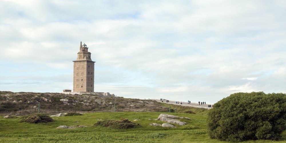El faro de la Torre de Hércules en A Coruña