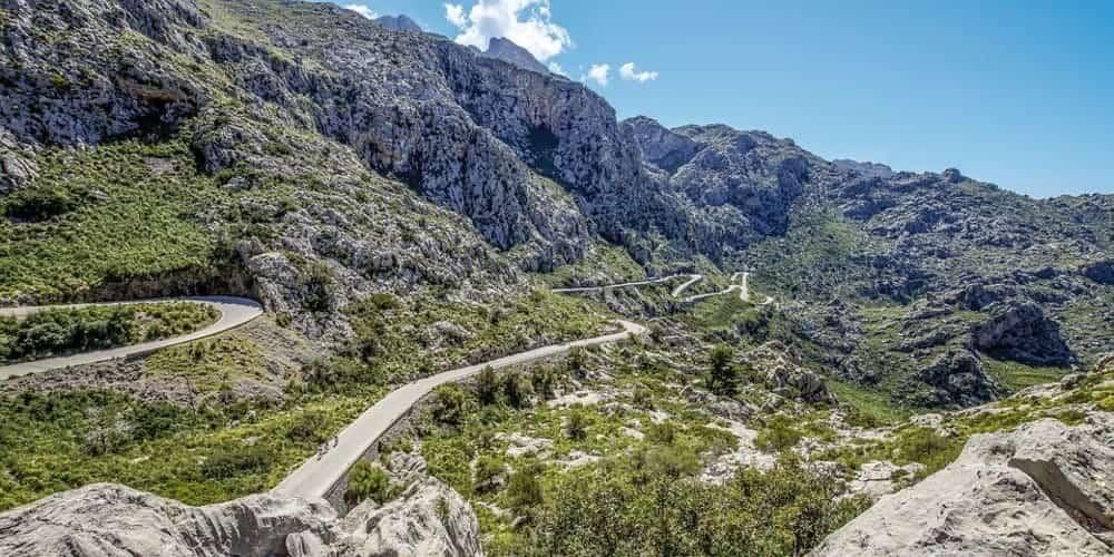 Sa Calobra un impresionante mirador desde la carretera en Mallorca
