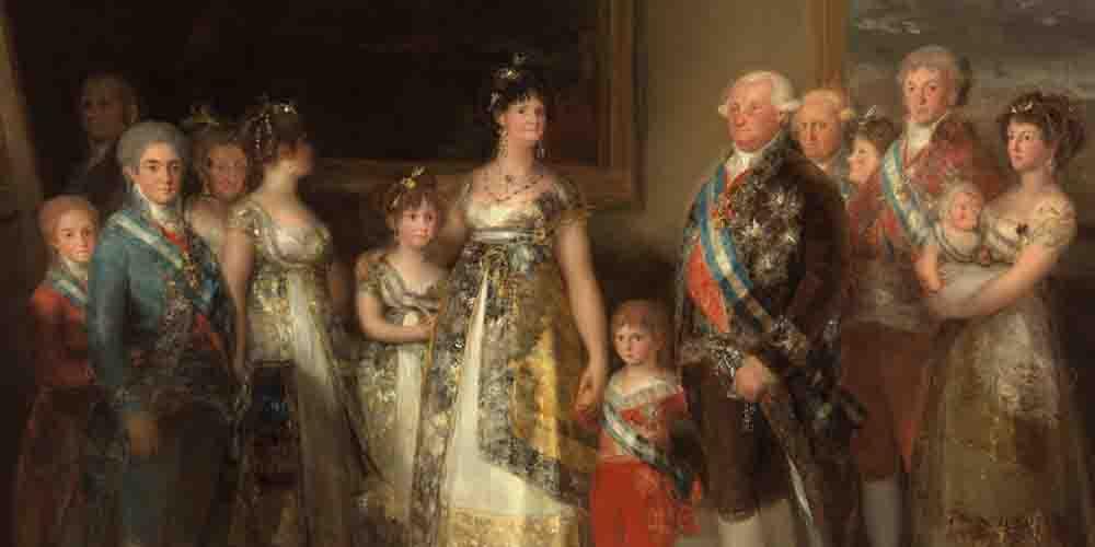 Retrato de la familia de Carlos IV en Madrid de Francisco de Goya.