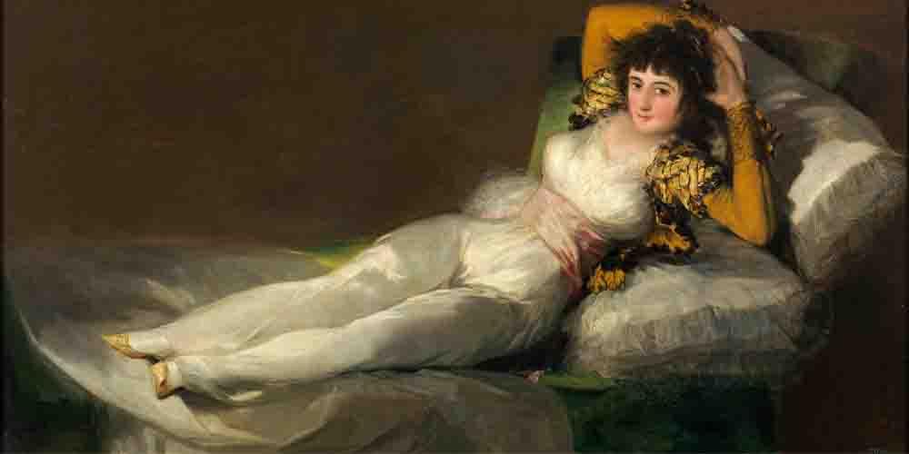 La maja vestida, cuadro de la exposición de Goya en el Museo del Prado.