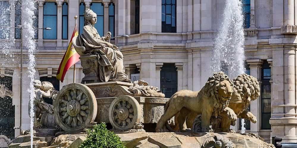 Fuente de Cibeles, un momento simbólico de la capital