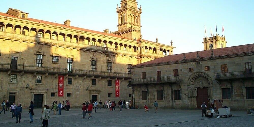 Plaza del Obradoiro, muy famosa en Santiago de Compostela