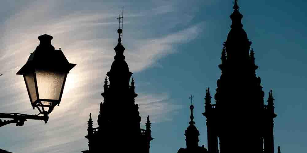Las torres de la Catedral de Santiago de Compostela.