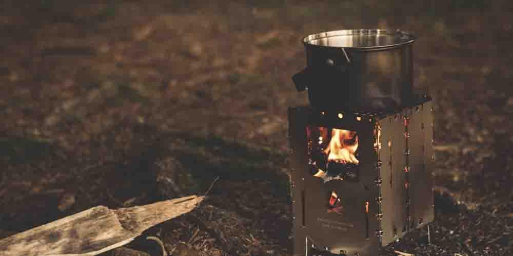 Camping gas en las Islas Cíes de Galicia.