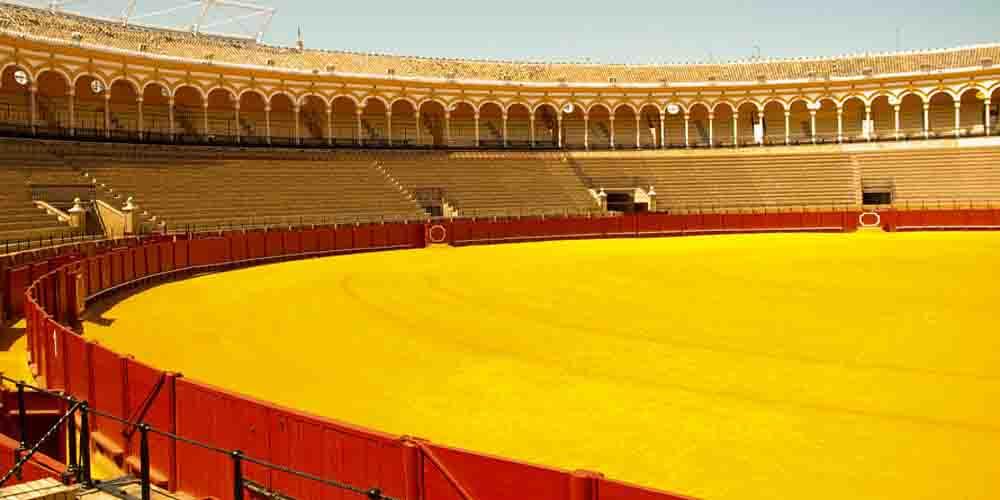 Interior de la Plaza de Toros de la Real Maestranza de Sevilla.