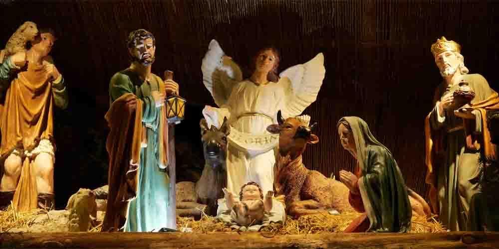 Una escena del nacimiento en el portal de Belén.