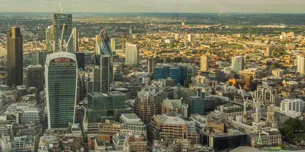 Distrito financiero The City, una zona muy recomendable donde dormir en Londres.