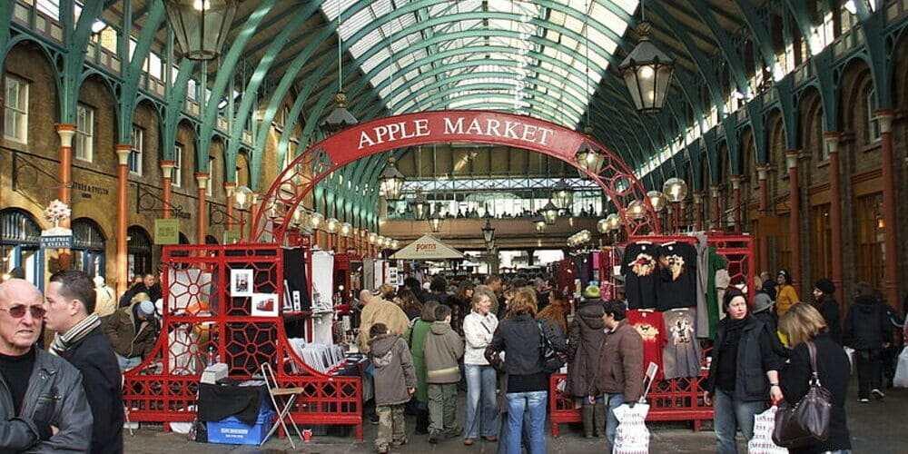 Apple Market, el mercado de Covent Garden en Londres.