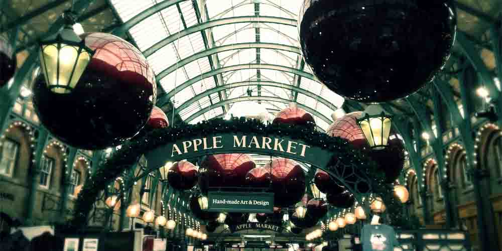 Apple Market en el mercadillo de Covent Garden.