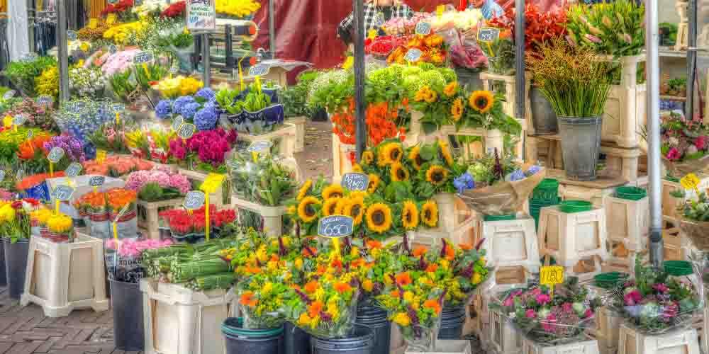 El mercado de flores más famoso de Londres en Columbia Road.