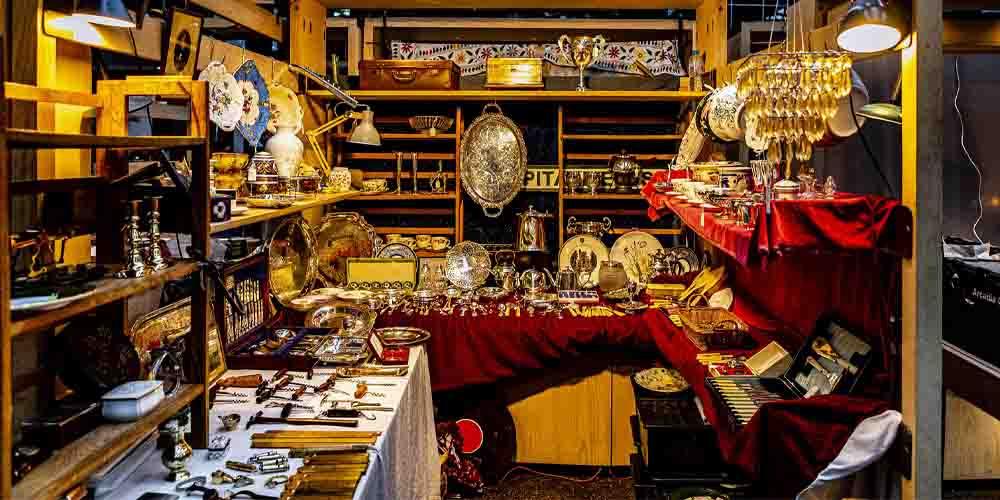 Un puesto en Spitalfields Market, uno de los mercados de Londres más famosos.