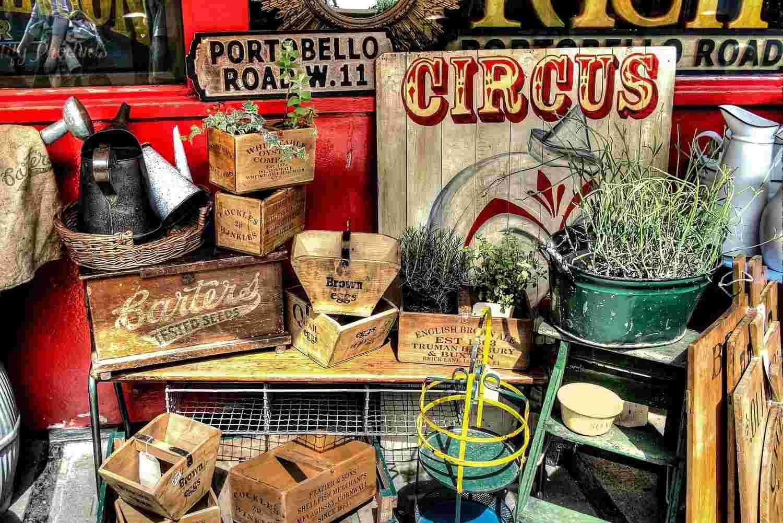 Portobello Market en Notting Hill: el mejor mercado de antigüedades de Londres
