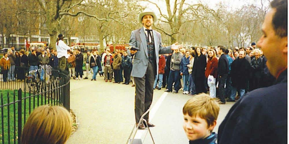 Orador en el Speakers' Corner del Hyde Park de Londres