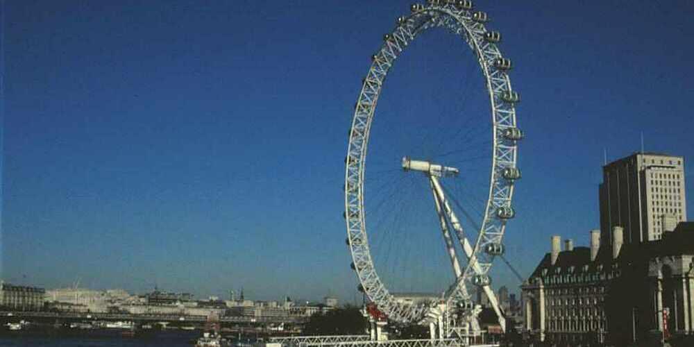 Imagen del London Eye, la famosa noria de Londres a orillas del Támesis.