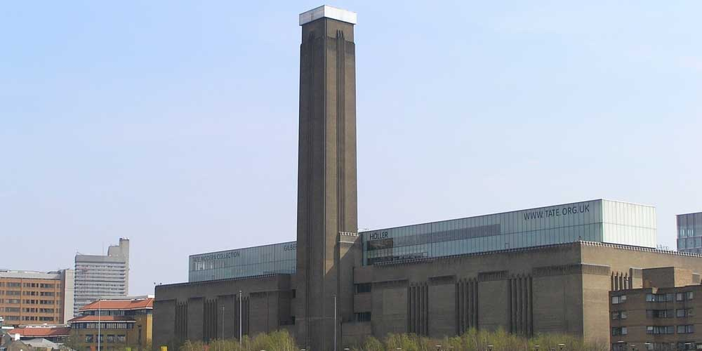 Imagen del exterior del Museo de Londres Tate Mondern.