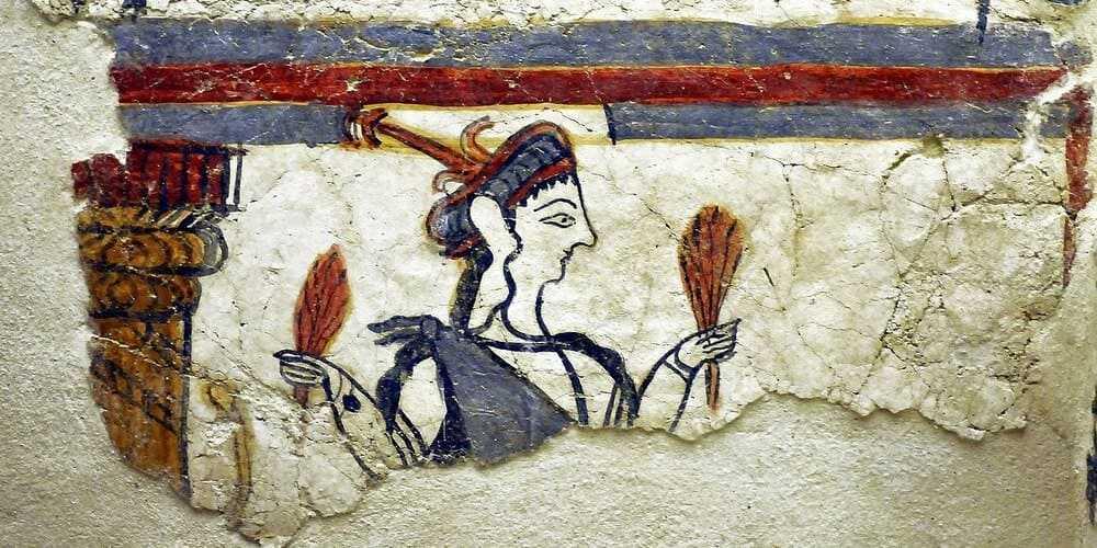 Arte micénico que se expone en el Museo de Micenas