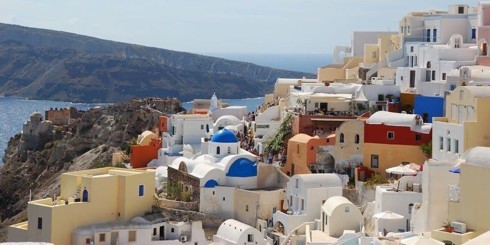 Casas blancas de Santorini. Excursión para hacer en Atenas en 5 días