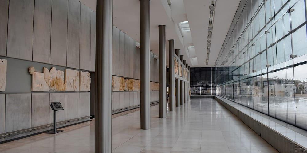 Galería del Nuevo Museo de la Acrópolis, en Atenas