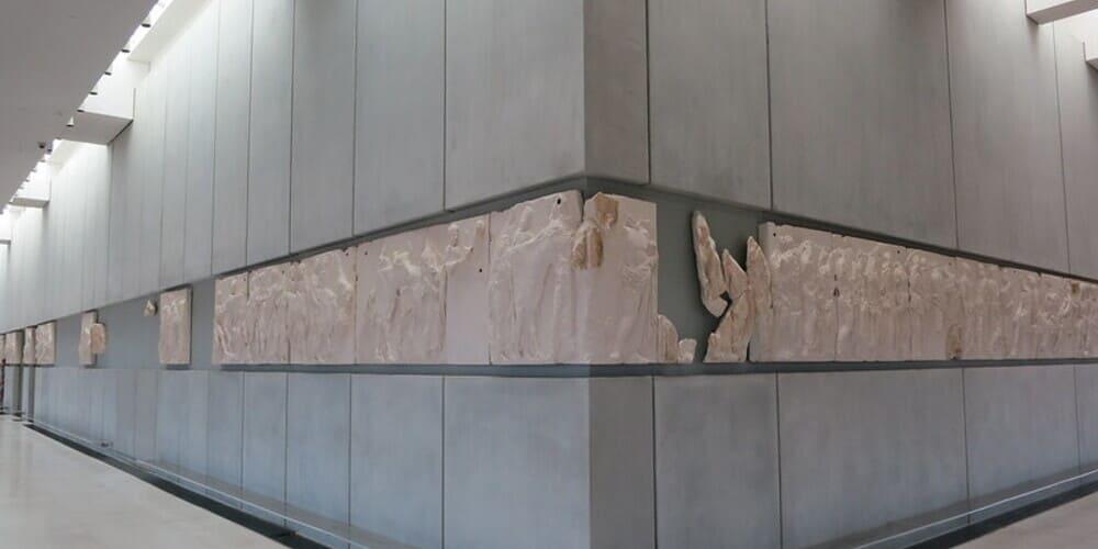 Friso del Partenón, en el Nuevo Museo de la Acrópolis, Atenas