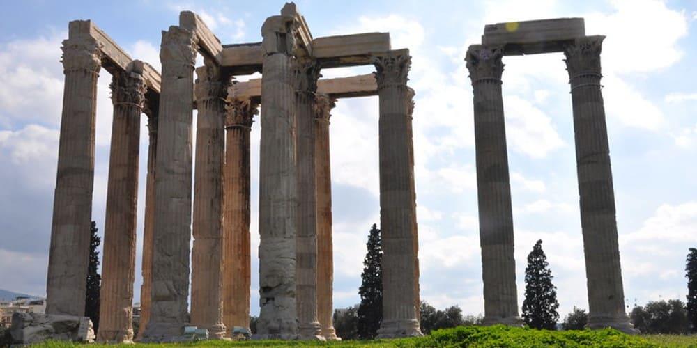 Columnas del Templo de Zeus Olímpico, en Atenas