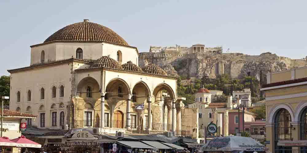 Mezquita otomana de Tzistarakis, un punto de interés que ver en el barrio de Plaka de Atenas en 4 días.