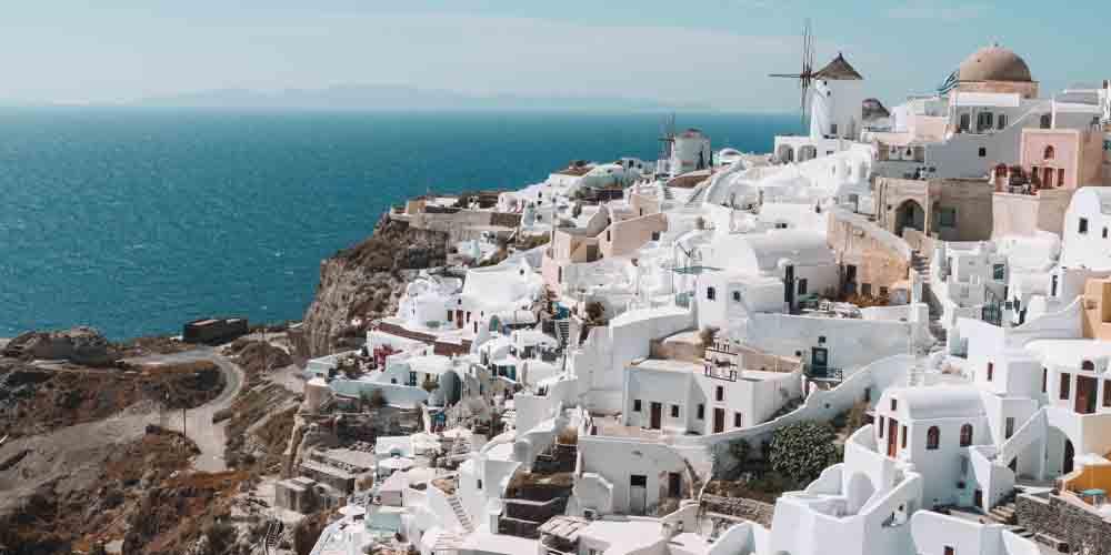Isla de Thira, ejemplo del arte cicládico que ver en Atenas en dos días.