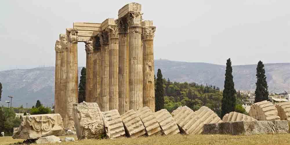 El Templo de Zeus Olímpico, uno de los principales monumentos de Atenas.