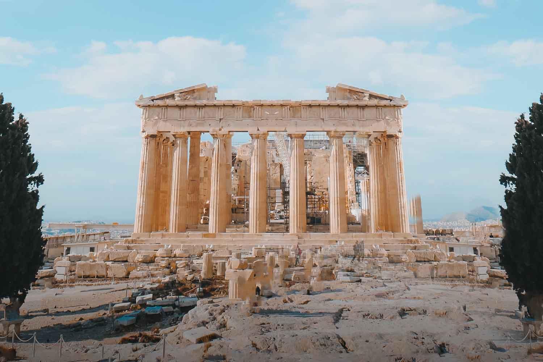El Templo de Zeus y los principales monumentos de Atenas