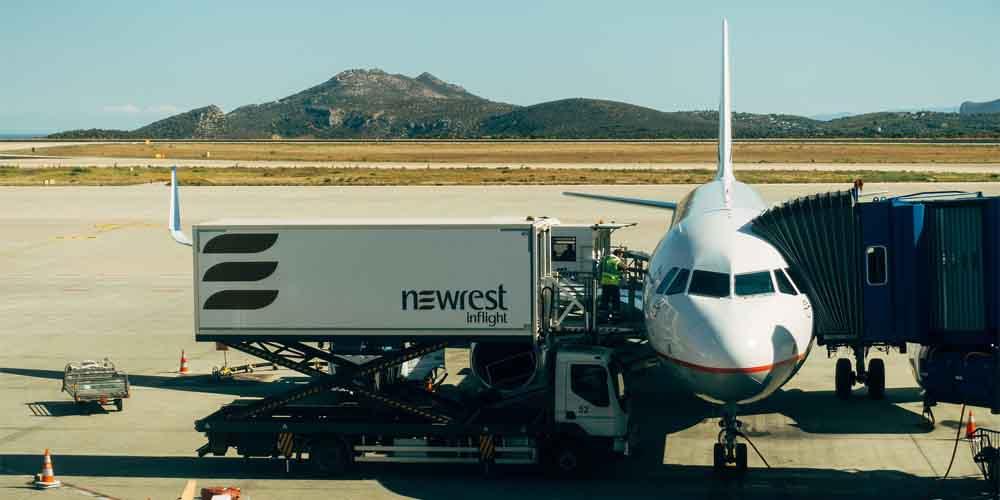 Avión para ir de Atenas a Mykonos.