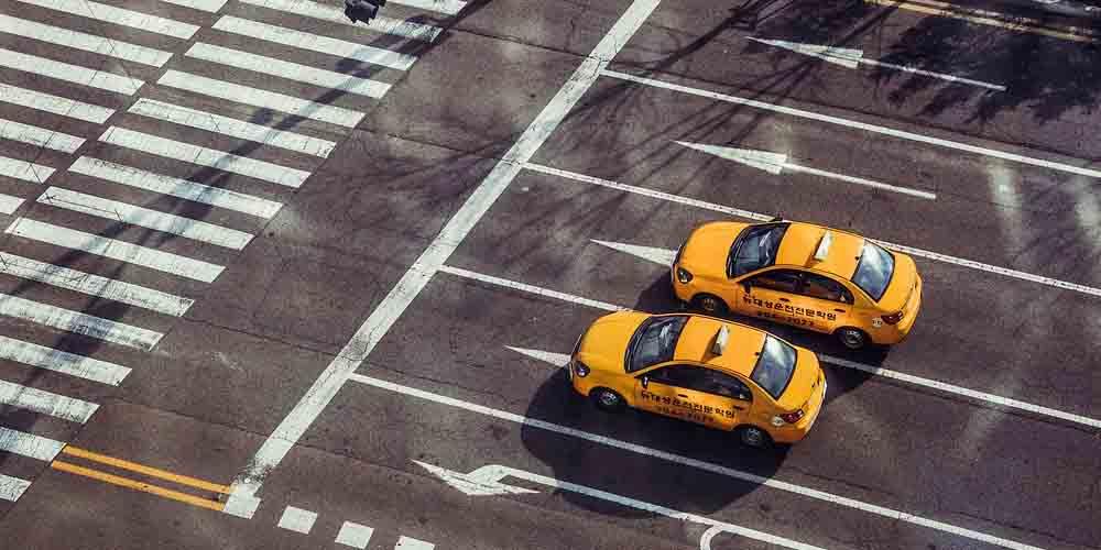 Taxis en la ciudad de Atenas.