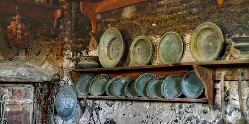Una cocina del interior de los conventos.