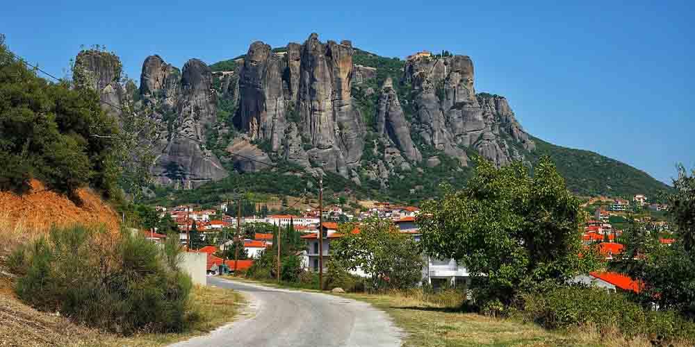 Vista de Kalambaka, el pueblo más cercano a los monasterios.