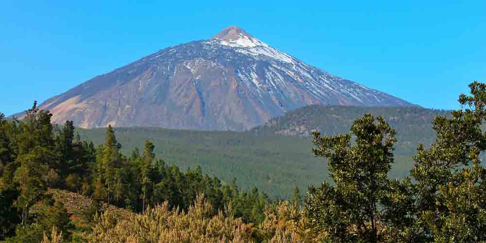 Vista del Teide de Tenerife para subir en un fin de semana.