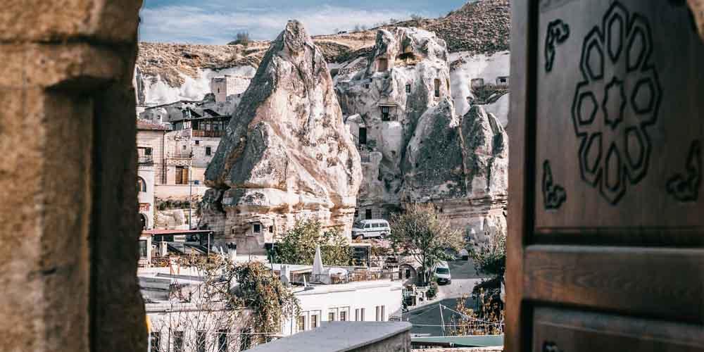 Pueblo de Göreme en un viaje a Capadocia en 2 días.