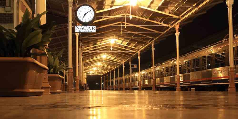 Estación de tren para ir de Estambul a Capadocia.