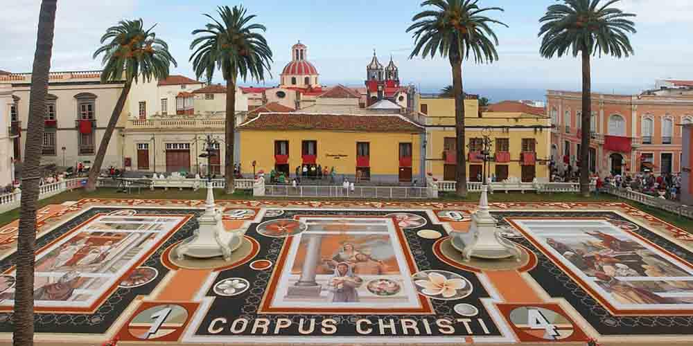Plaza del pueblo de la Orotava.