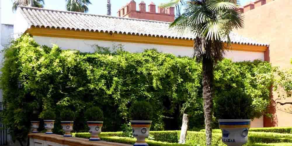 Patio que se puede visitar con las entradas al Alcázar de Sevilla.