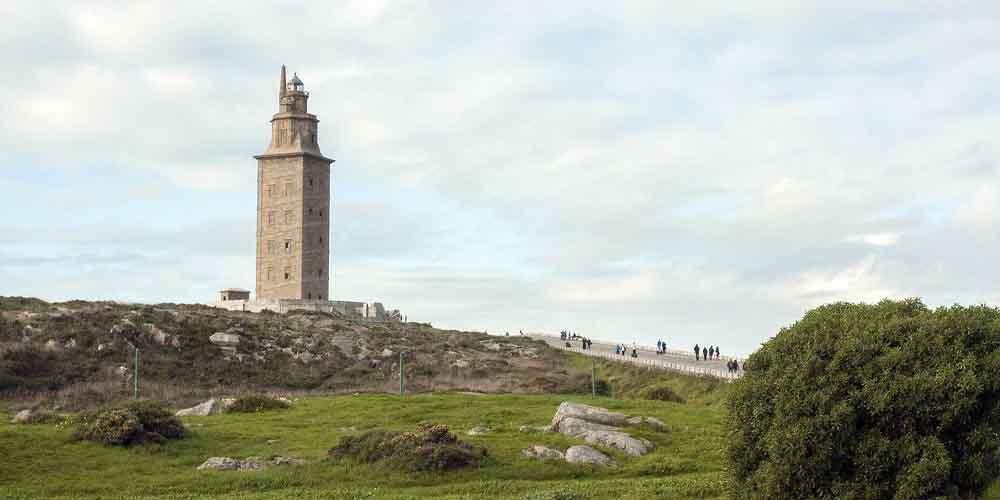 La Torre de Hércules en La Coruña de Galicia.