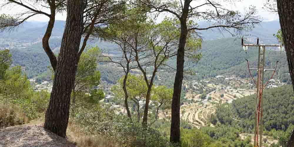 Vista al Parque Natural de Ses Salines en Formentera en un día.