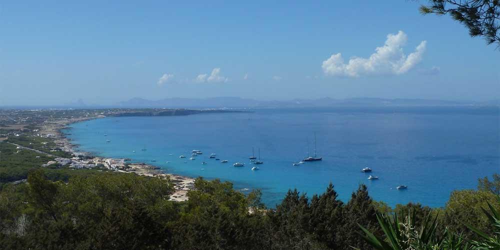 Vista desde el mirador de Formentera.