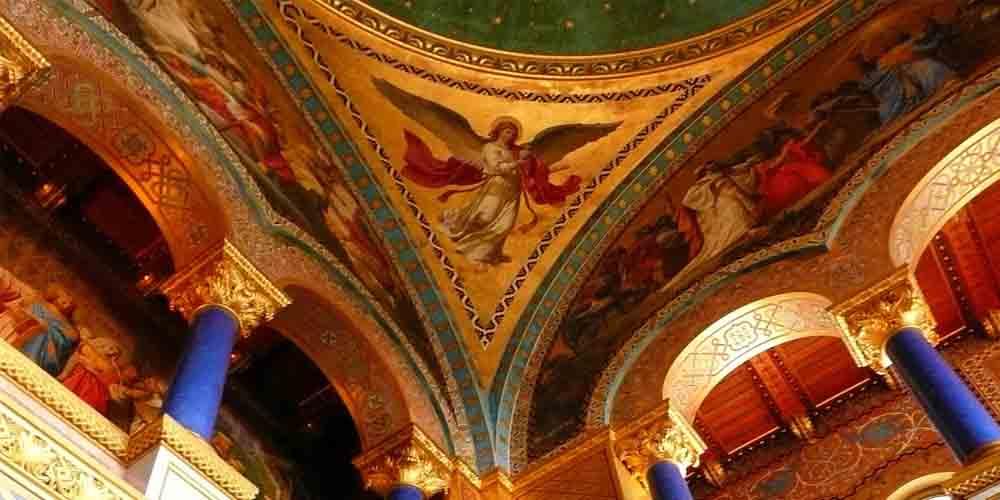 Detalle de la Sala del Trono en el interior de Neuschwanstein.