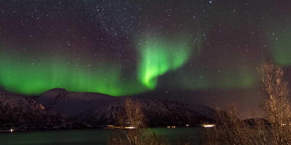 Skulsfjord es un lugar donde ver la aurora boreal en Tromso.