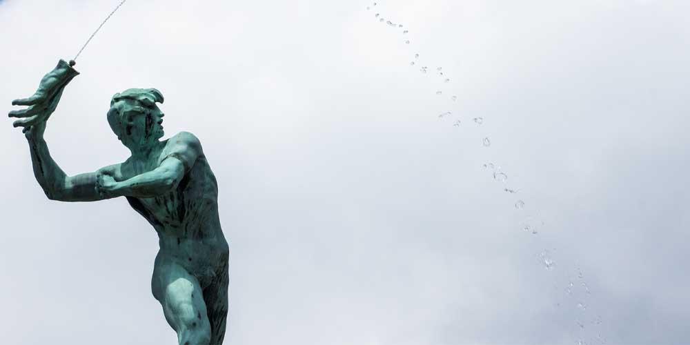 Estatua que se puede ver en la visita a Amberes.