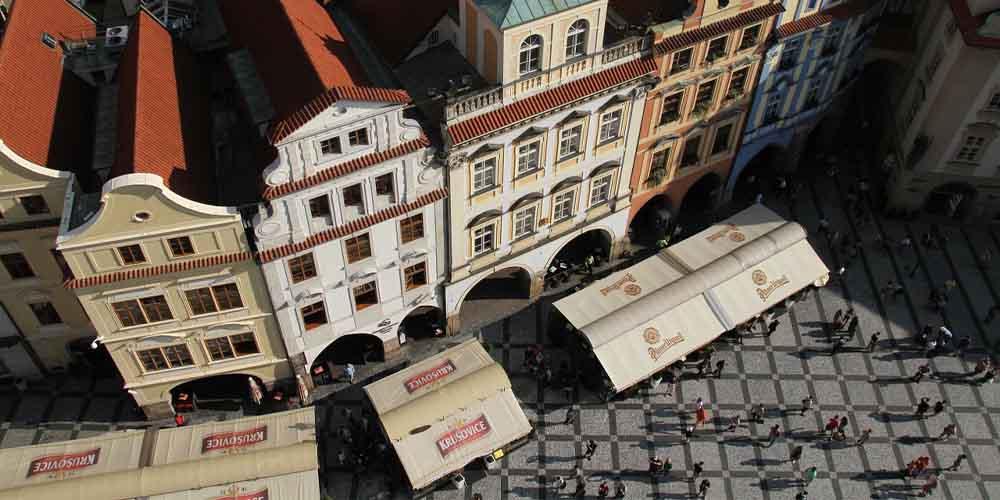 Plano cenital de la Calle Nerudova.