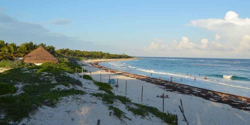 Vista de la playa Quintana Roo, una de las playas de Tulum.